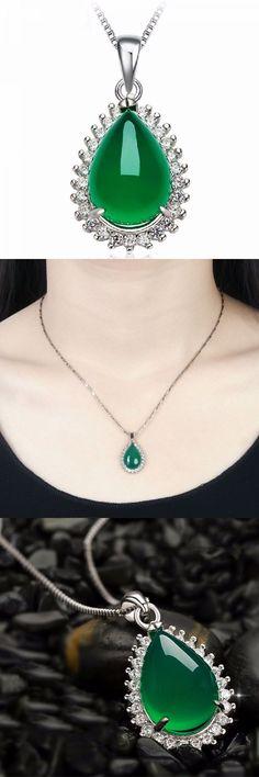 1 carat diamond pendants necklaces 925 silver waterdrop chalcedony zircon necklace pendant #1 #carat #diamond #pendants #necklaces #irish #necklaces #pendants #necklace #pendants #for #engraving #necklaces #stone #pendants