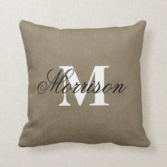 Elegant Family Name & Monogrammed Throw Pillow Dorm Pillows, Throw Pillows, College Dorm Decorations, Custom Pillows, Monograms, Keep It Cleaner, Shop Now, Names, Elegant
