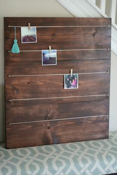 Large Photo board for 4x4 photo's, Instagram photo holder, Instagram picture frame by sumsouthernsunshine on Etsy https://www.etsy.com/listing/202263110/large-photo-board-for-4x4-photos