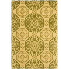 Wyndham Honey/Green 4 ft. x 6 ft. Area Rug