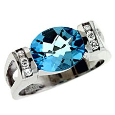 Blue Topaz Color Rings - Semi Precious