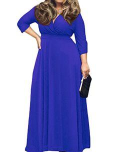 POSESHE Women's Solid V-Neck 3/4 Sleeve Plus Size Evening... https://www.amazon.com/dp/B01D8OI51K/ref=cm_sw_r_pi_dp_x_.bVhzbY03W1GJ