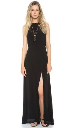 Line & Dot High Neck Maxi Dress