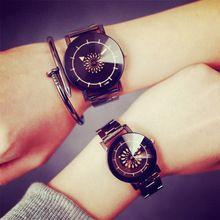 Mulheres homens assistir 2016 de moda de nova completa de aço inoxidável relógio de quartzo das senhoras vestido de relógio de pulso Relogio Feminino relógio(China (Mainland))