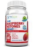 PURE KETONES Raspberry Ketones, 400 mg Per Serving, 60 Vegetarian Capsules. 100% Pure All Natural Lean Weight Loss Appetite Suppressant Supplement. Max Pure Raspberry Ketones Per Capsule. Full Double-Strength 30-Day Supply by ProActive Nutrients