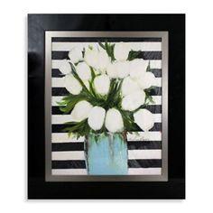 White Tulips Wall Art - BedBathandBeyond.com
