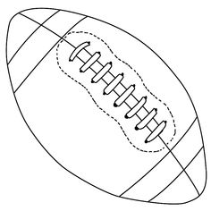 Brookie you need to show this to Riley!  He was always asking me to draw a football for him:)