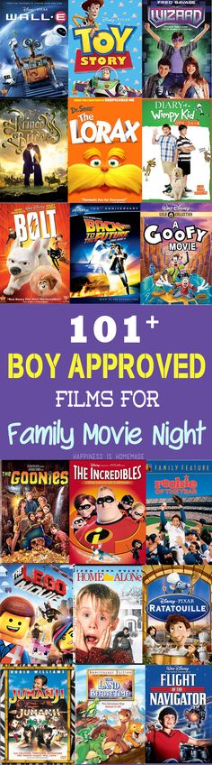 If you have children (male or female!) like mine who refuse to participate in family movie night unless the number of boys, explosions, race cars, sword fights, treasure hunts, robots and general action and adventure far outweigh the number of princesses and fairies, then you might find this list helpful, too!