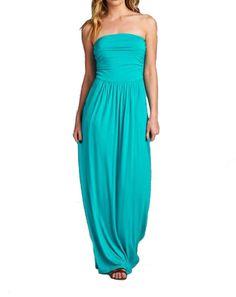 Solid Pocket Casual Maxi Dress