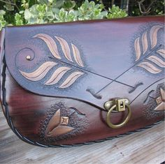 Arrows of Truth....Handmade Tooled Leather by ContrivedtoCharm, $268.00