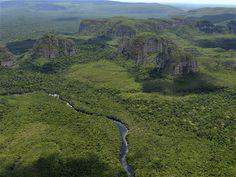 La serranía de Chiribiquete, entre Guaviare y Caquetá, Colombia