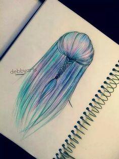 Hair Art, Drawing by debbyarts