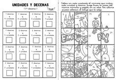 Dibujos de decenas y unidades - Imagui