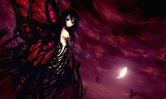 Anime Accel World  Kuroyukihime Black Lotus Fondo de Pantalla