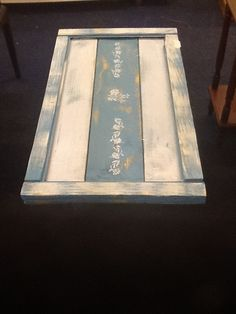 Hand painted shabby chic outside table £35
