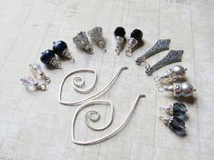 RESERVED - Earring Wardrobe - Parisian Nights- Earring Set - Mix and Match - Interchangeable Charms. $36.00, via Etsy.