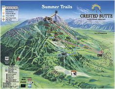Crested Butte Mountain Resort Summer Trail Map
