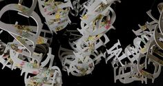 The Artwork: Second Glance The LoopArt Mobile - a sculptural poem by Ebon Heath