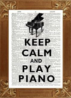 Keep calm Print, Keep calm and play piano Print 2, Dictionary art prints Upcycled Book page Upcycled Dictionary page Art Print. $9.50, via Etsy.