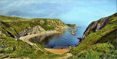 Baie de Saint Oswald, Dorset (Angleterre).  