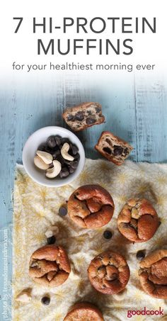 7 High Protein Muffins For Your Healthiest Morning Ever - Good Cook Good Cook High Protein Muffins, High Protein Snacks, Protein Cookies, Pumpkin Protein Muffins, Blueberry Protein Muffins, Healthy Muffins, High Protein Recipes, Healthy Snacks, Healthy Recipes
