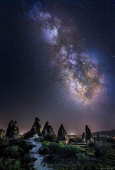 Milky Way over Cappadocia, Turkey I Guner Gulyesil