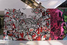 Graffiti in Mall Apumanque. Santiago, Chile.