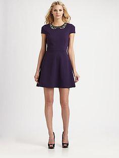 Ali Ro Cap-Sleeve Dress