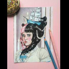 Rococo, Baroque, Melanie Martinez Drawings, Vintage Fans, Amazing Paintings, Halloween Jack, New Sticker, Art For Sale, Paper Art