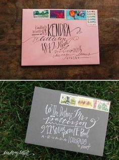 Address calligraphy