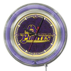 Use this Exclusive coupon code: PINFIVE to receive an additional 5% off the East Carolina University Pirates Neon Logo Clock at SportsFansPlus.com
