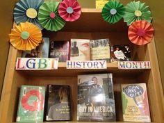 LGBT History Month display pinwheel craft DIY rainbow colors