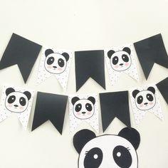 panda banner bunting