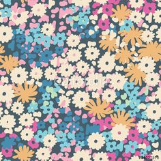 "Download the royalty-free vector ""Vector ditsy floral seamless background"" designed by Ani Bunny at the lowest price on Fotolia.com. Browse our cheap image bank online to find the perfect stock vector for your marketing projects!"