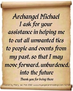 One of 24 prayers, messages and affirmations of trust in the Archangels presented on parchment scrolls. Angel Protector, Archangel Prayers, Angel Quotes, Angel Sayings, The Knowing, I Believe In Angels, Saint Michel, Archangel Michael, Prayer Board