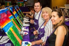 """Had such a wonderful fundraising event for Forever Footprints at Matisse Bistro, painting """"Beach Walkway"""" Thank you to Matisse for donating a portion of the food and beverage sales to support this amazing foundation! We had so much fun! Don't forget to tag each other! Can't wait to paint again! #HappyHourPaint   #BeachWalkway   #Wine   #paint   #food   #FootPrints   #MatisseBistro"""