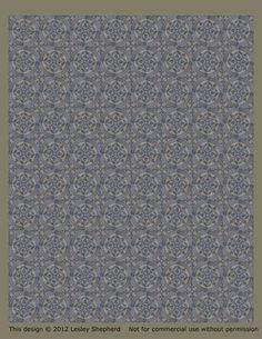 Printable Classic French Floor Tiles for Dollhouse Floors - BlueTiles