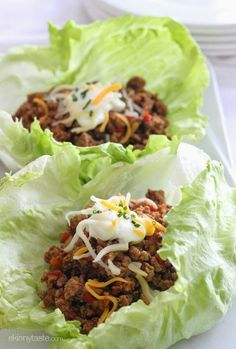 You won't miss the taco shell with these EASY, low-carb Turkey Taco Lettuce wraps! You won't miss the taco shell with these EASY, low-carb Turkey Taco Lettuce wraps! Skinny Recipes, Paleo Recipes, Mexican Food Recipes, Cooking Recipes, Lasagna Recipes, Paleo Meals, Spinach Recipes, Paleo Diet, Candida Diet Recipes Snacks