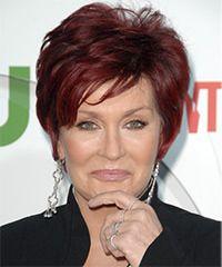 Sharon Osbourne Hairstyle: Formal Short Straight Hairstyle