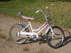 Vintage Huffy Desert Rose Banana Seat Bike. Put a basket on front and this was my old bike