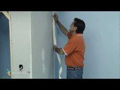 Construir tabiques de yeso laminado (Pladur) 3: juntas (BricocrackTV) - YouTube