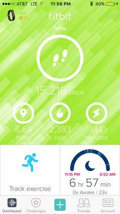 Fitbit: 15K Screen