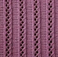 rib stitch with eyelets - ladder to the sky