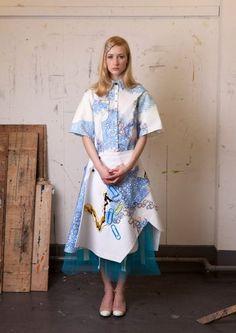 Lauren Smith (Edinburgh College of Art) Lauren Smith, A Level Textiles, Unique Costumes, Fashion Silhouette, Runway Fashion, Womens Fashion, Embroidery Fashion, Up Styles, Dressmaking