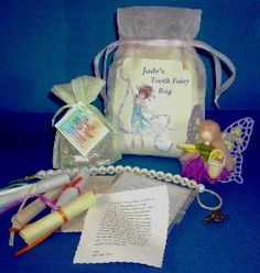 Tooth Fairy Bags and Gift Sets:  Custom made and Personalized