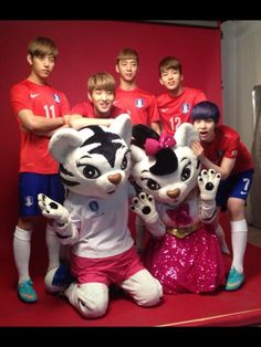B.A.P show their support for women's national soccer team