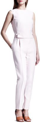 Valentino Open-Back Bow Jumpsuit on shopstyle.com