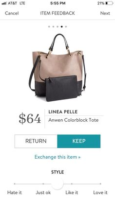 I would like a color block bag for spring - perhaps with a brighter color?
