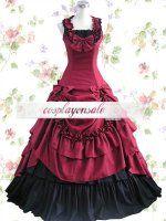 Red Bow Ruffles Cotton Classic Lolita Dress [T110154] - $73.00 : Cosplay, Cosplay Costumes, Lolita Dress, Sweet Lolita