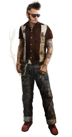 View an image titled 'Psycho Billy Art' in our MotorStorm Apocalypse art gallery featuring official character designs, concept art, and promo pictures.
